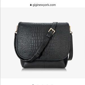 NWT Gigi NYC Andie Crossbody Black leather bag